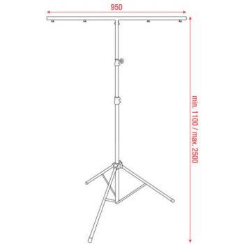 Showtec Light Stand ECO (10kg) 70102 Soporte Iluminación Disco Dj