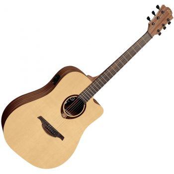 LAG T70DCE Guitarra Electro Acustica Formato Dreadnought con Cutaway Serie Tramontane