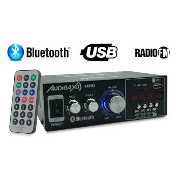 Audibax KANSAS Amplificador HiFi con Bluetooth / MP3 / FM 2 x 40W ( REACONDICIONADO )