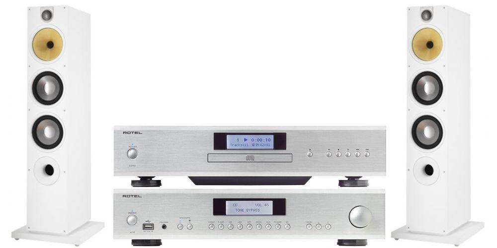 rotel a14 silver amplificador hifi cd14silver bw 683 white