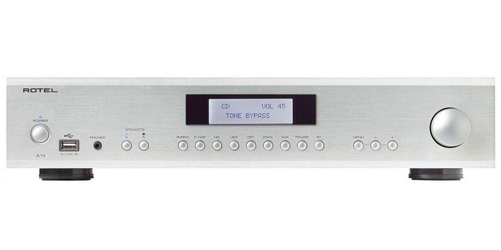 rotel a14 silver amplificador hifi