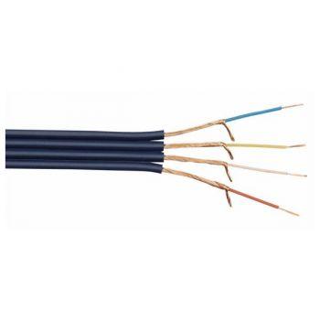 DAP Audio AV-84 Cable asimétrico azul oscuro con 4 vías de audio y vídeo de 100m