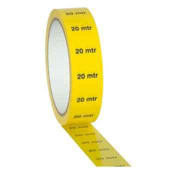 Showtec Markertape 25 mm/33 m Cinta Marcadora Amarilla