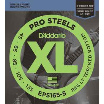 D´addario EPS165-5 ProSteels 5 cuerdas para bajo