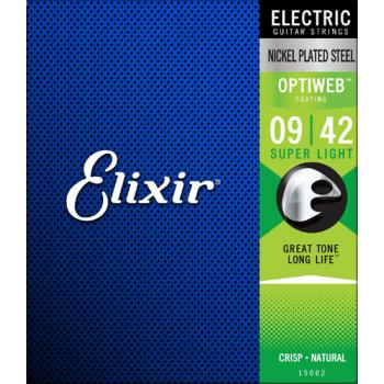 Elixir 19002 OPTIWEB 09-42 Juego cuerdas Electrica