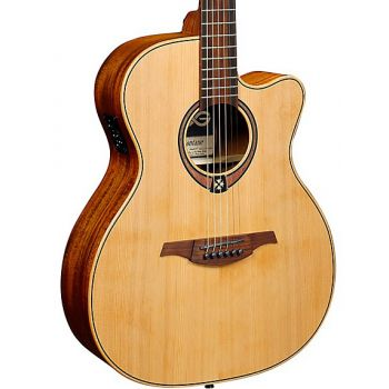 LAG T170ACE Guitarra Electro Acústica Tipo Auditorium con Cutaway Serie Tramontane