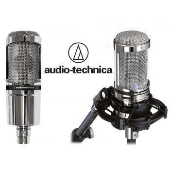 Audio Technica AT-2020V Micrófono de Estudio ( LimIted Edition Chrom ). Incluye Accesorio AT8458A