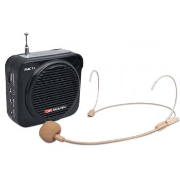 MARK AMC-15 Amplificador con Altavoz Portátil y Micrófono de 8 W