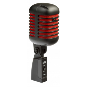 Proel Eikon DM55V2RDBK Micrófono Vocal Dinámico Profesional vintage Negro y Rojo  Satinado