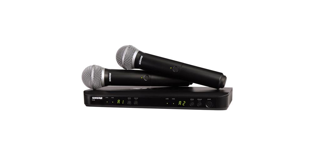 SHURE BLX288E B58 Microfono inalambrico Dual de Mano Beta 58