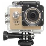 "Action Cam 1080p con Accesorios Gold. Pantalla 2"" .Waterproof 30M"