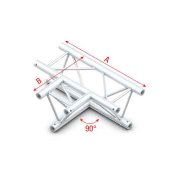 Showtec 90 3-way horizontal Cruce de Truss Triangular DT22017