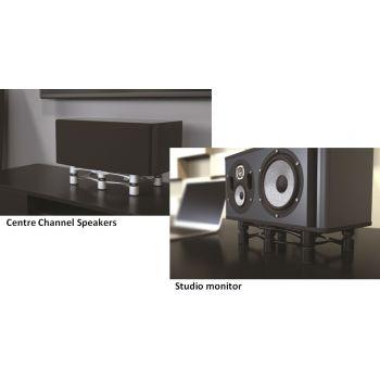 Iso Acoustics Aperta 300 Plateado Soportes altavoz Unidad