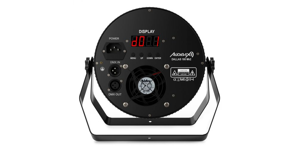 audibax dallas 180 mk2 foco led disco trasera