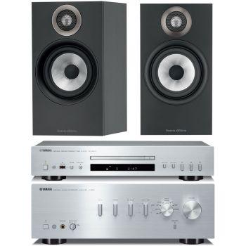 YAMAHA AS501 SI+CDS300SI+BW606 BK  Conjunto audio