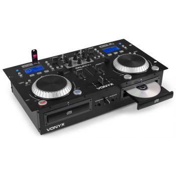 Vonyx Cdj-500 Doble Reproductor Con Amplificador Cd Mp3 172810