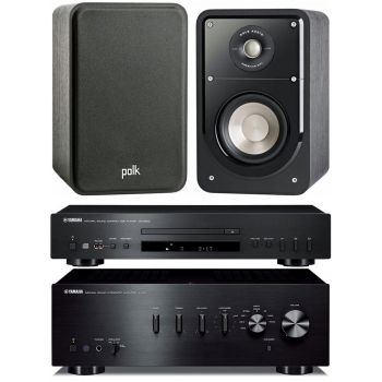 Yamaha AS301 Black+CDS300 Black+Polk audio S15 Conjunto Audio