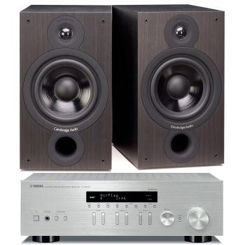 Yamaha RN-303D Silver+Cambridge Audio SX60 Black Conjunto Sonido