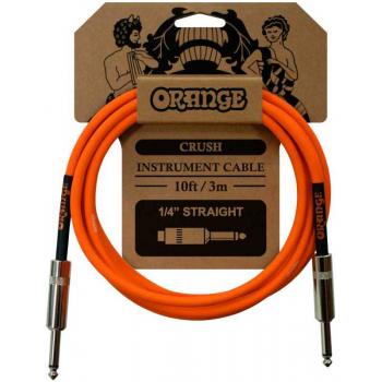 Orange Crush Straight-Straight Cable Guitarra Jack-Jack Recto. 3 Metros