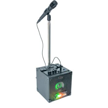 Party SINGER Conjunto Karaoke Activo con Animación Luminosa, Micrófono y Soporte
