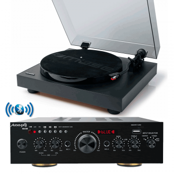 Equipo HiFi Multimedia Karaoke Audibax Miami + Giradiscos USB MUSE MT105B con Capsula Magnética