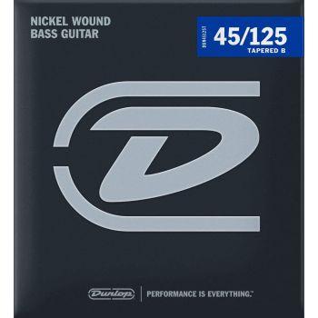 Dunlop DBN45125T Juego Cuerdas Bajo Nickel Tap 5 St. 45-125