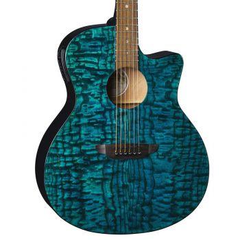 Luna Guitars Gypsy Quilt Ash Teal. Guitarra Electroacústica