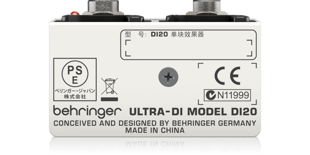 behringer DI20 rear