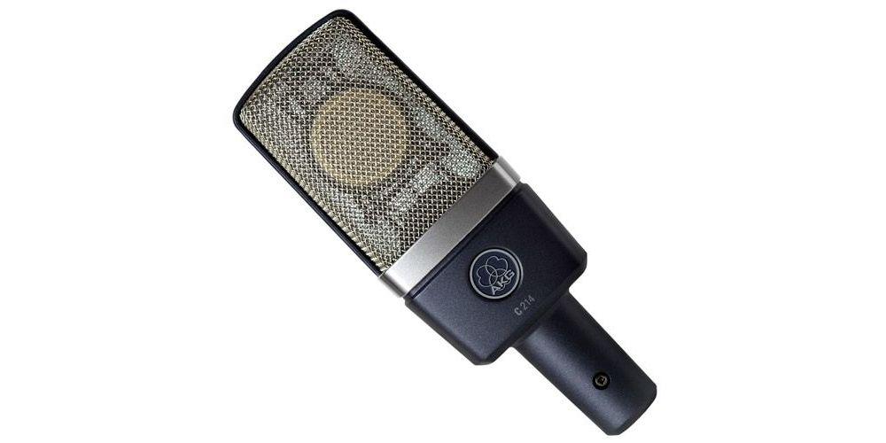 akg c214 microfono studio set stereo