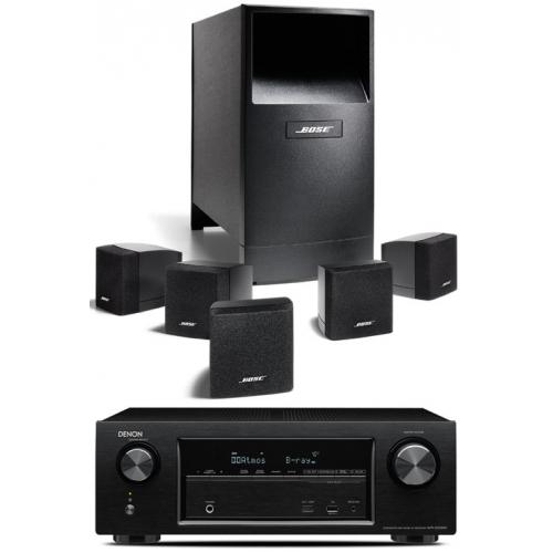 DENON AVR-X1200-AM6 Bk Conjunto Home Cinema