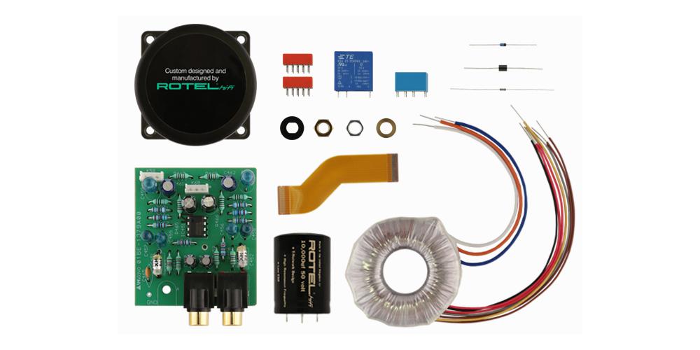 ROTEL A12BK amplificador 60w componentes fabricacion alta calidad