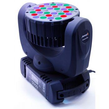 Audibax ARIZONA Cabeza Móvil PROFESIONAL Beam 36x3w RGBW