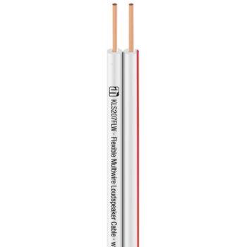 Adam Hall KLS 207 FLW Cable de altavoz flexible multihilo 2 x 0.75 mm² blanco bOBINA 100M