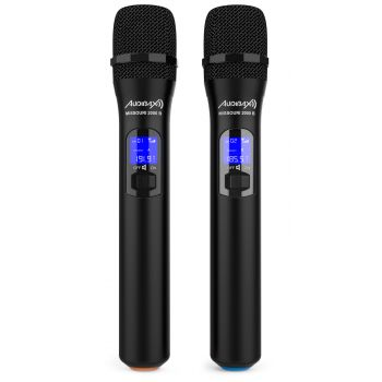 Audibax Missouri 2000 Microfono Doble Inalámbrico Mano VHF Rango B ( REACONDICIONADO )