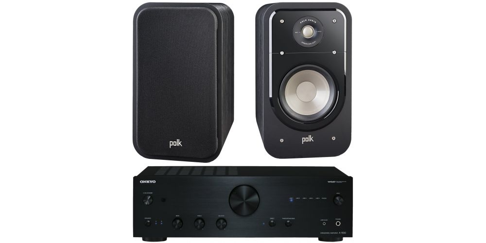 onkyo a 9030 black polk audio s20