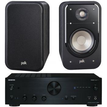 ONKYO A9030-BK+Polk audio S20 BK Conjunto de Sonido