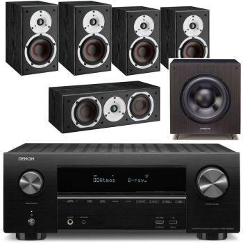 DENON AVR-X2500+Dali Spektor 2 Cinema Pack 5.0 Black+SX120 BK