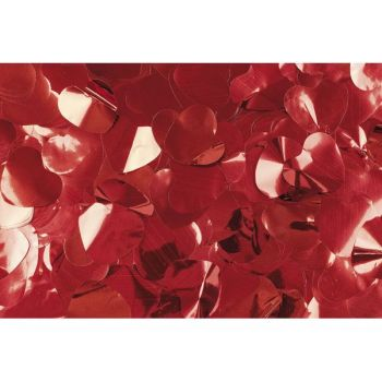 Antari Red Metallic Confetti Hearts 1Kg