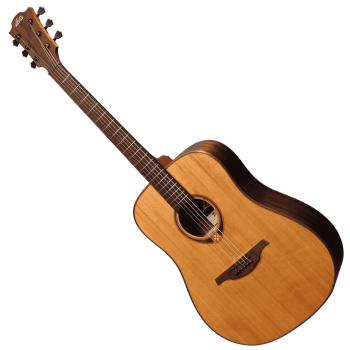 LAG TL118D Guitarra Acústica para Zurdos Formato Dreadnought Serie Tramontane