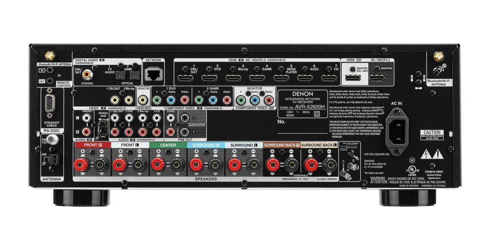 DENON AVR X2600 Receptor Audio Video Home Cinema AVRX2600 conexiones