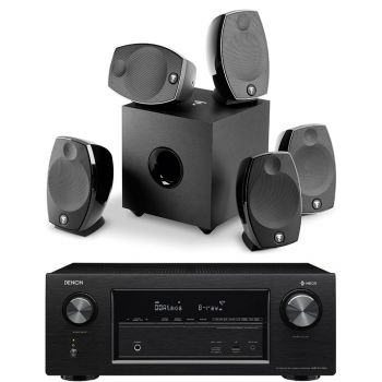 Denon AVR-X2400+Focal Sib Evo 5.1 Conjunto Home Cinema