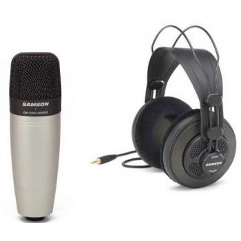 Samson SR-850 Auricular Semi Abierto Estéreo + Micrófono Samson C01