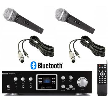 Amplificador Karaoke Bluetooth Fonestar AS-123RUB 60+60W + 2 Micrófonos Audibax Tokyo 1600