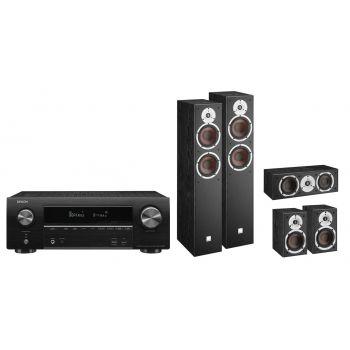 Denon Equipo AV AVR-X1600H + Dali Spektor 6 Black Cinema pack