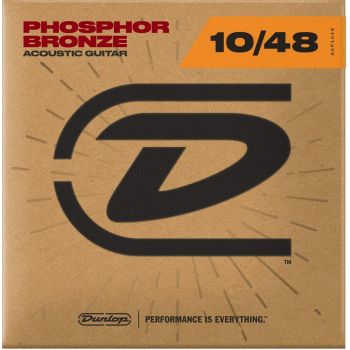 Dunlop DAP1048 Juego Cuerdas Guitarra Acustica phosphor Bronze Extra Light 10-48